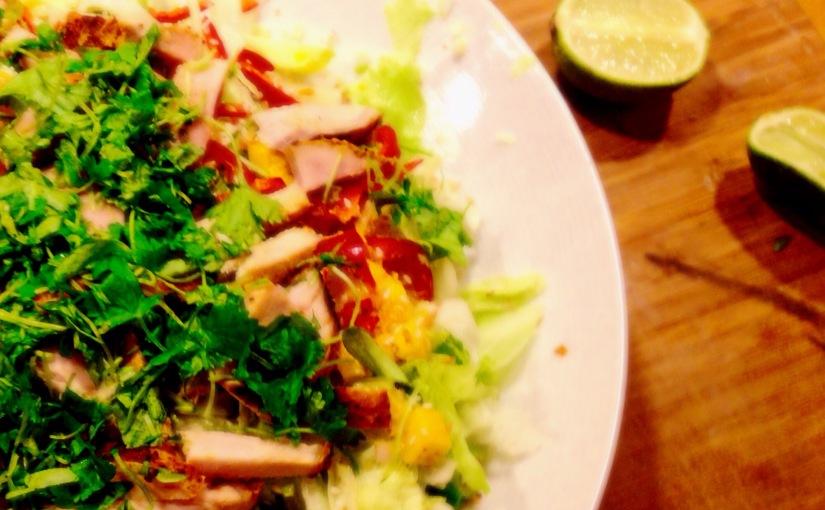 Thai (biff,svin,kylling,scampi) salat