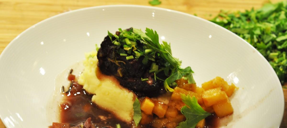 Bibringe med potetmos og karamellisert kålrabi