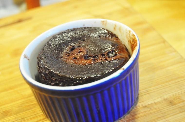 Sjokoladekake på 1 minutt uten mel_ferdig i mikro