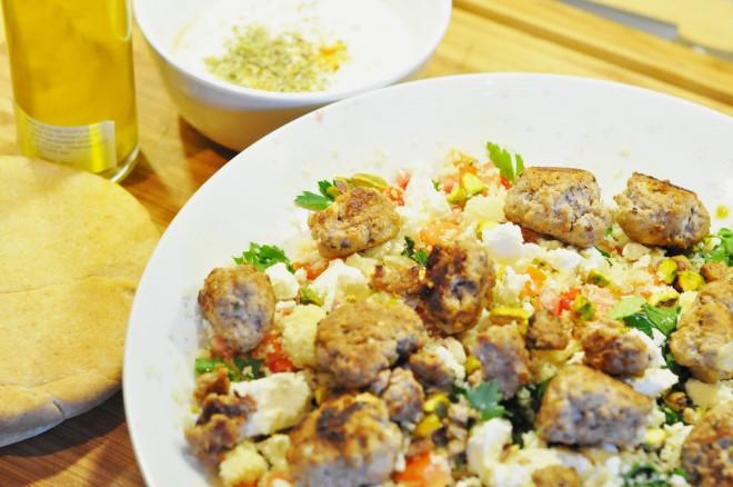 tabbouleh med couc cous og kjøttboller (5)