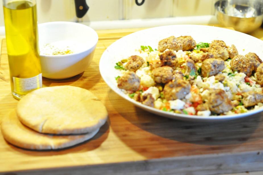 tabbouleh med couc cous og kjøttboller (7)