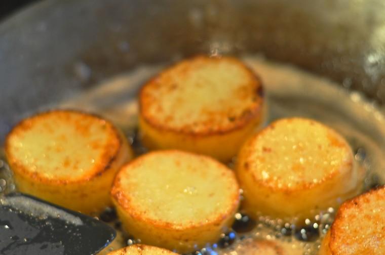 kjøtt poteter og sopp fondant poteter