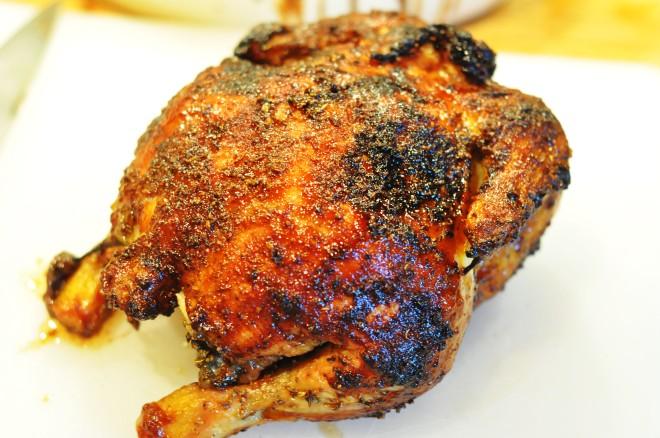 ølboks kylling med soyaglaze, koriander og agurkris og hjemmelaget sweet chili saus (18)