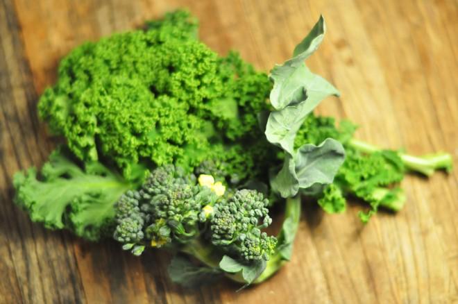 grønnkål og brokkoli