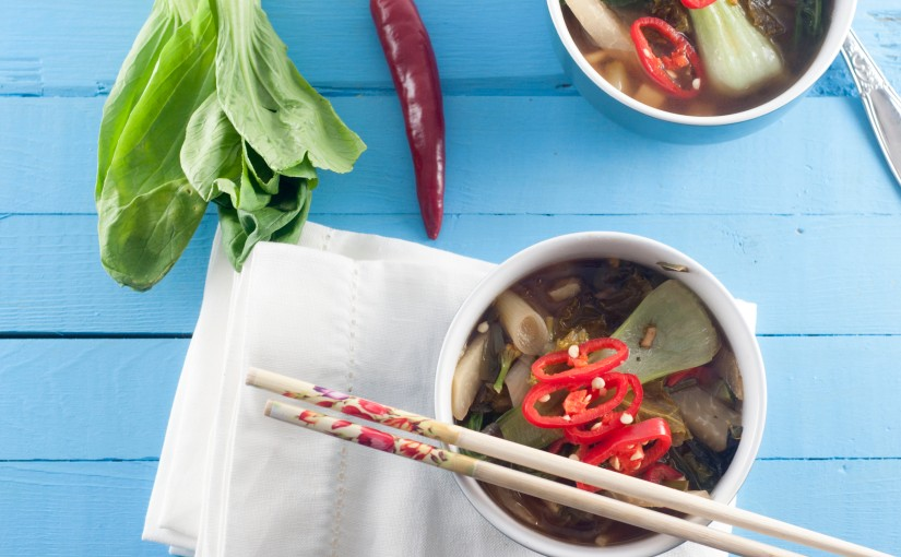Høstsuppe – Ramen med grønnsaker ogmiso