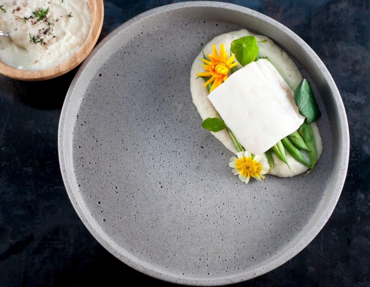 Torsk med beurre blanc og knutekålpuré