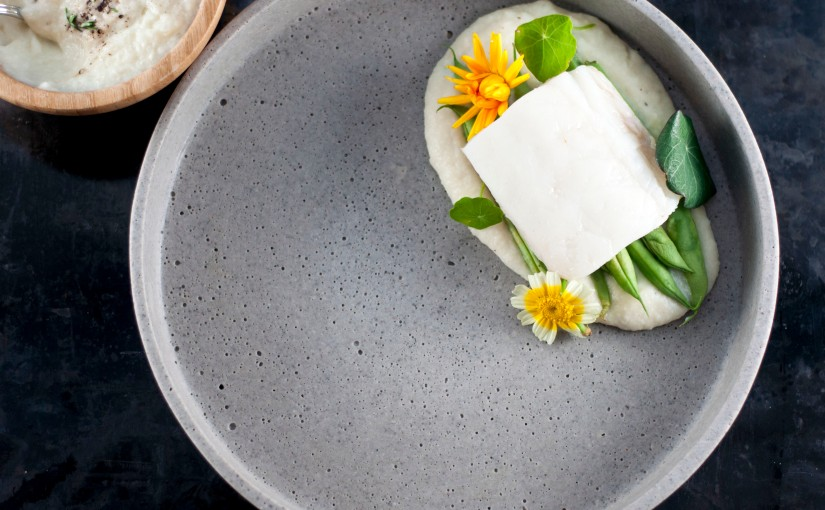 Torsk med beurre blanc ogknutekålpuré