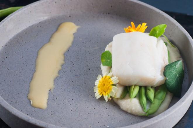 torsk med knutekålpure og aspargesbønner (69)