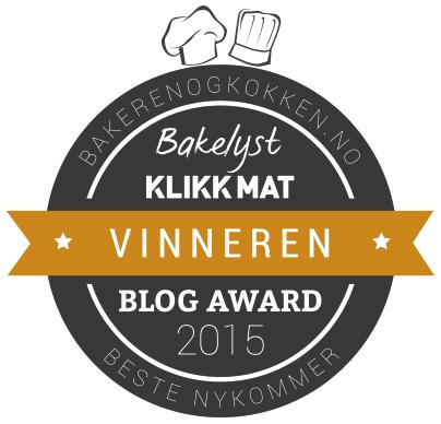 Årets nykommer Blog Award 2015, å ja meg det visstnok:)